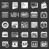 日历日程表计划者象被设置的灰色传染媒介 免版税库存图片