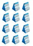 日历桌面mounth集合结构树 免版税库存照片