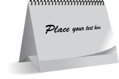 日历模板 免版税库存照片