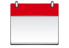 日历模板 免版税库存图片