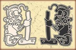 日历玛雅人装饰品样式符号 库存图片