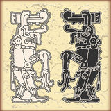 日历玛雅人装饰品样式符号 免版税库存图片