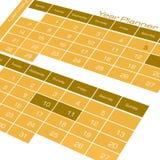 日历计划程序年 免版税库存图片