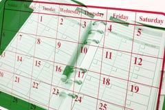 日历计划程序 库存图片