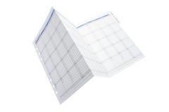 日历计划程序 免版税库存图片
