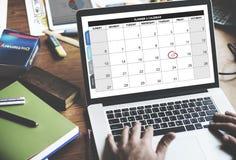 日历计划者组织管理提醒概念 免版税图库摄影