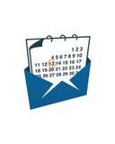 日历邮件业务保险摘要 免版税图库摄影
