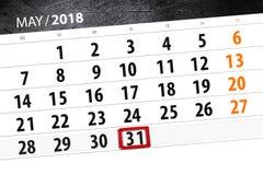 日历,天,月,事务,概念,日志,最后期限,计划者,状态假日,桌,彩色插图, 2018年,可以31 库存图片