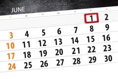 日历,天,月,事务,概念,日志,最后期限,计划者,状态假日,桌,彩色插图, 2018年, 6月1日 库存照片