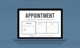 日历任命日期议程概念 向量例证