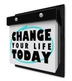 日历更改生活今天围住您 免版税库存图片