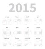 日历2015年模板 免版税库存图片