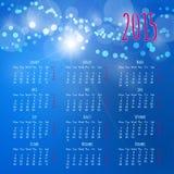 日历2015设计模板 免版税库存图片