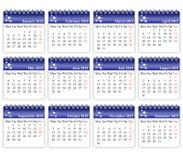 日历2015年 免版税库存照片