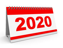 日历2020年 向量例证