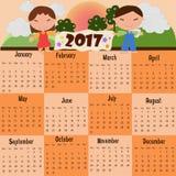 2017日历 免版税库存照片
