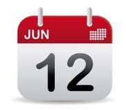 日历6月站起来 免版税库存照片