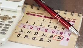 日历chritsmas 库存图片
