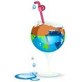 日地球蜜饯水 免版税库存照片