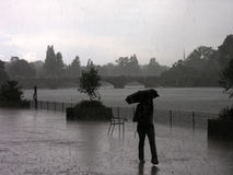日多雨的海德公园 库存图片