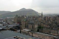 日多雨的爱丁堡 库存图片