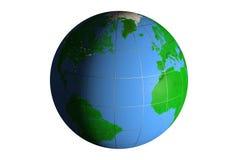 日夜地球上,旁边美国 免版税库存照片