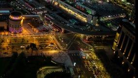 日夜空 台北市立街 影视素材