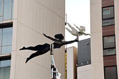 日夜街道和正方形看法,千叶,日本  库存照片