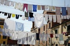 日威尼斯洗涤物 库存图片