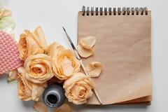 日志或笔记本您的笔记的 库存图片