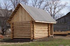 从日志的木房子 免版税库存图片