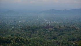 日惹,印度尼西亚山风景  免版税库存照片