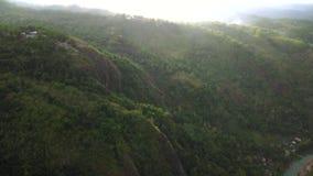 日惹Mangunan小山美好的鸟瞰图  股票录像