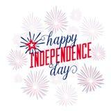 日愉快的独立 7月4日 第四 传染媒介-纪念品 标志 爱国庆祝 库存图片