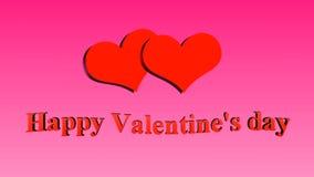 日愉快的s华伦泰 在桃红色背景的心脏 影视素材