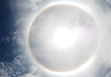 幻日或太阳光晕在泰国 免版税图库摄影