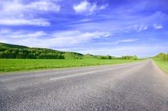 日晴朗横向的春天 免版税图库摄影
