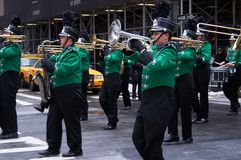日曼哈顿新的游行帕特里克s st约克 免版税库存照片