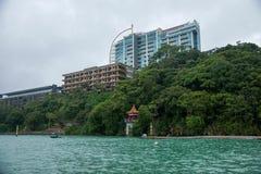 日月潭在南投县,台湾风景 免版税库存照片