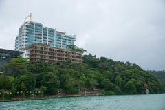 日月潭在南投县,台湾风景 免版税图库摄影