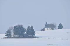 日有雾的冬天 免版税库存照片