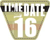日期补丁程序时间 免版税库存图片