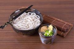 日本乌龙面面条 免版税库存照片