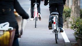 日本乘自行车 免版税库存照片