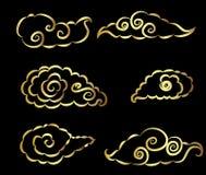 日本云彩纹身花刺设计传染媒介 库存照片
