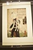 日本人印刷品在东方艺术博物馆在罗马意大利 库存照片