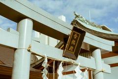 日本人在神田寺庙的Torii门在千代田,东京,日本 免版税库存图片