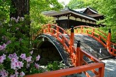 日本人寺庙桥梁 免版税库存照片