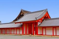 日本人寺庙门  库存照片