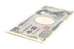 日本人的钞票1000日元 免版税图库摄影